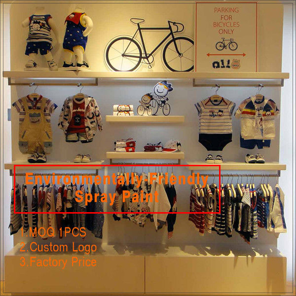 Kids clothing kiosk design with clothing display racks সরবরাহকারী